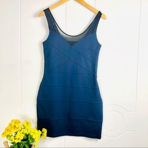 Express Navy Blue Fitting Dress Size Small